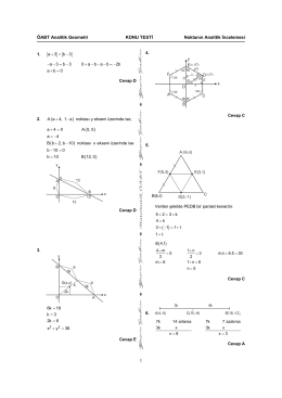 Analitik Geometri Kitabı Soru Çözümleri