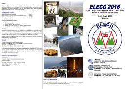 Çağrı Metni - ELECO®2014 ELEKTRİK