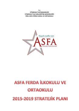 Asfa Koleji 2015-2019 Stratejik Planı