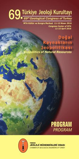 69. Türkiye Jeoloji Kurultayı Programı için lütfen tıklayınız.