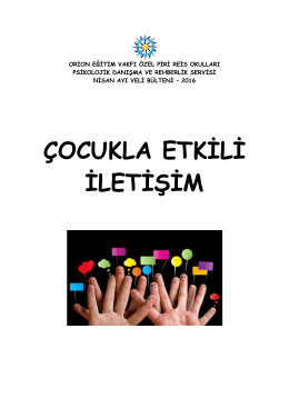 çocukla etkili iletişim - Özel Piri Reis Okulları