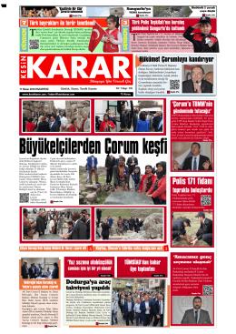11 Nisan 2016 - Kesin Karar Gazetesi