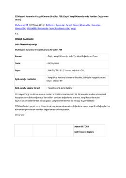 5520 sayılı Kurumlar Vergisi Kanunu Sirküleri /39 (Geçici Vergi