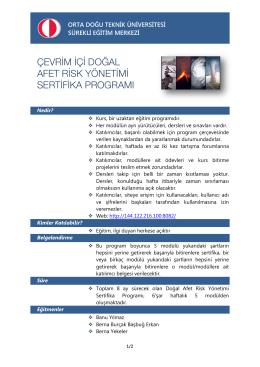 çevrim içi doğal afet risk yönetimi sertifika programı