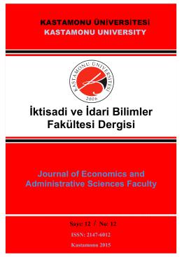 Sayı 12 - Dergi İçerik - İktisadi ve İdari Bilimler Fakültesi