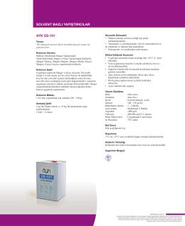 akrilik esaslı yapıştırıcılar solvent bazlı yapıştırıcılar ayk ss-101