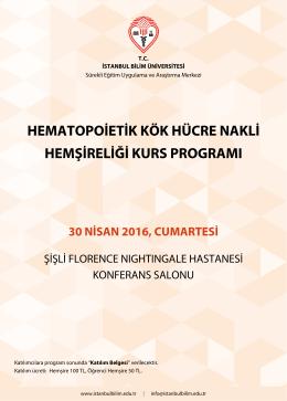 30 nisan 2016, cumartesi - İstanbul Bilim Üniversitesi