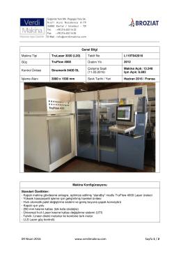 TruLaser 3030 (L20) TruFlow 4000