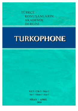 türkçe konuşanların akademik dergisi