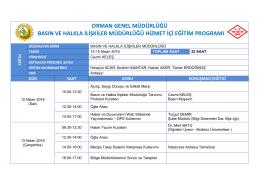 Basın ve Halkla İlişkiler Eğitim Programı 2016