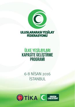 uluslararası yeşilay federasyonu toplantı programı