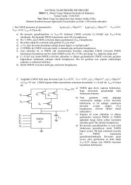sayısal elektronġk devrelerġ x1 cl +vdd=3v x2 x3 x1 x4 x2 y x3 x4 x5