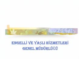Türkiye`de Yaşlıların Durumu ve Yaşlanma Ulusal Eylem Planı