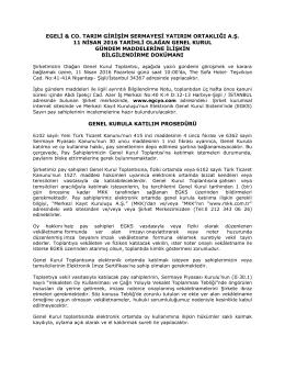 egeli & co. tarım girişim sermayesi yatırım ortaklığı a.ş