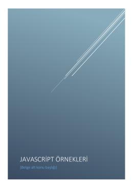 JavaScript Örnekleri PDF
