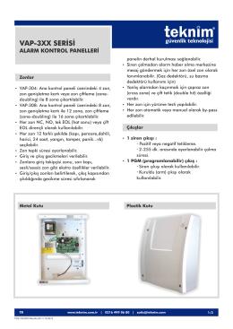 vap-3xx alarm kontrol panelleri