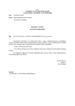 Avrupa Birliği ve Dış İlişkiler Genel Müdürlüğü