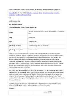 5520 sayılı Kurumlar Vergisi Kanunu Sirküleri /40 (Sermaye