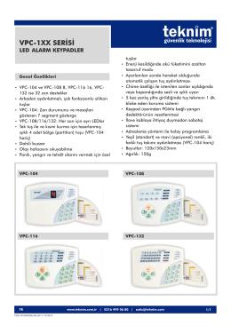 vpc-1xx alarm keypadler