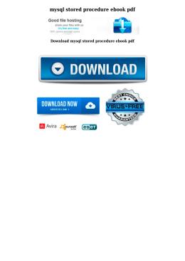mysql stored procedure ebook pdf