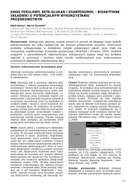kwas ferulowy, beta-glukan i ksantohumol