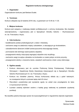 Regulamin konkursu - OSW