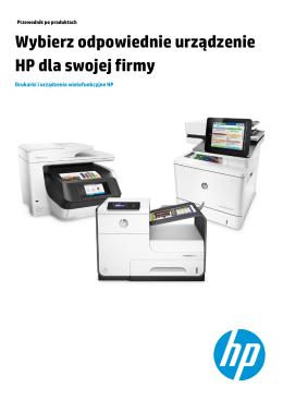 Wybierz odpowiednie urządzenie HP dla swojej firmy