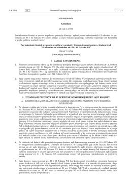 Addendum (2016/C 127/09) Zawiadomienie Komisji w
