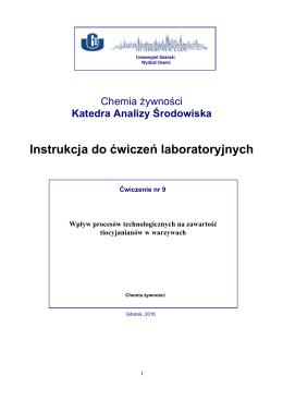 Chemia zywnosci _ cwiczenie_ 9 - Wydział Chemii