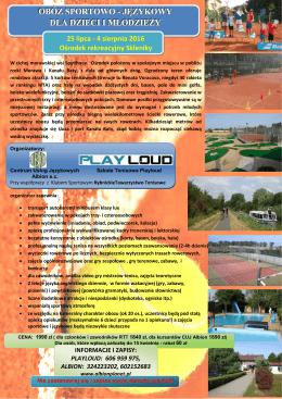 obóz sportow dla dzieci i wo - językowy i młodzieży
