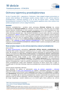 Briefing European Parliamentary Research Service
