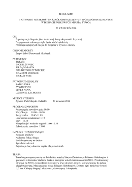Regulamin zawodów - Zespół Szkół Drzewnych i Leśnych w Żywcu