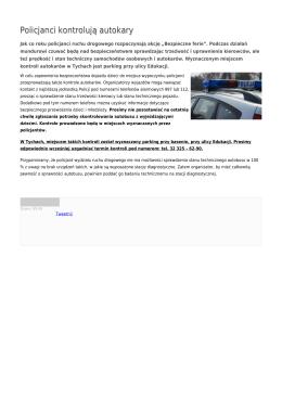 Policjanci kontrolują autokary