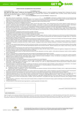 Konto Osobiste - Umowa - Wzór Umowy plik w formacie