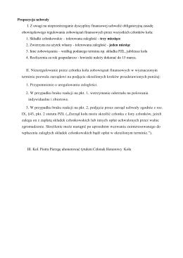 propozycje zarządu do rozpatrzenia zmian uchwał