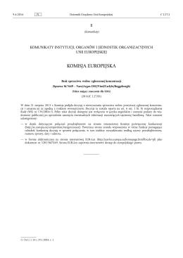 Brak sprzeciwu wobec zgłoszonej koncentracji (Sprawa M.7649