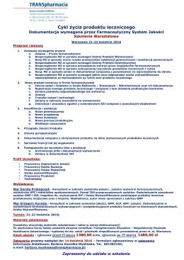 Informacja - TRANSpharmacia