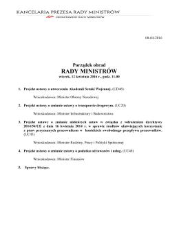 Tu należy rozpocząć pisanie treści - BIP Rady Ministrów i Kancelarii