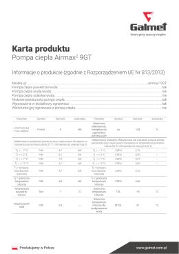 Karta produktu