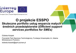 Prezentacja o projekcie ESSPO