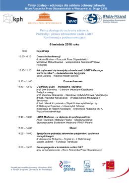 Program konferencji - Rzecznik Praw Obywatelskich