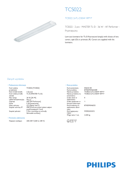 TCS022 surface-mounted luminaire with prismatic cover