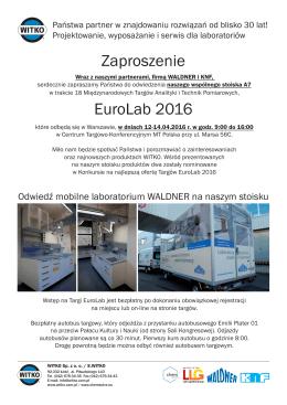 Zaproszenie EuroLab 2016