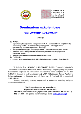 Seminarium WAVIN i FLOWAIR