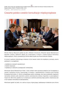 Czwarte polsko-czeskie konsultacje międzynarodowe