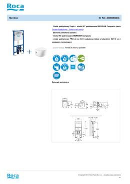 Stelaż podtynkowy Duplo + miska WC podwieszana MERIDIAN