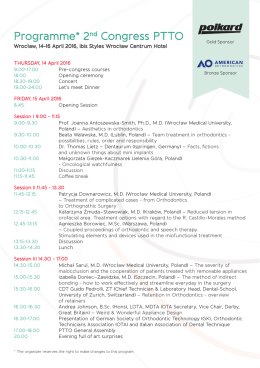 TO DOWNLOAD PROGRAMME 2nd PTTO CONGRESS