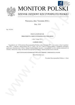 OGŁ - SZCZOTKA 319 post. - Rej. 45 - 2016