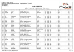 Lista startowa