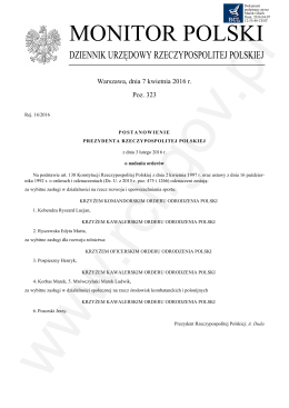 OGŁ - SZCZOTKA 323 post - Rej. 16 - 2016